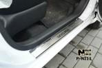 Nataniko Накладки на пороги Nissan Micra 2010- (5 дверей)