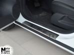 Nataniko Накладки на пороги Opel Corsa 2006- (5 дверей)
