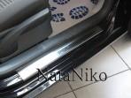 Nataniko Накладки на пороги Volkswagen Polo 2005-2009 (5 дверей)