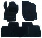 Коврики в салон текстильные для Mercedes-Benz GL-Class (X164) 2006-2012 (2 ряда) черные Elit 4 клипсы