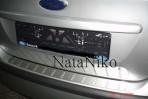 Nataniko Накладка на задний бампер для Ford Focus II Hb/Sw 2008-2011 (5 дверей)