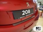 Накладка на задний бампер для Peugeot 208 2013-