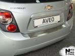 Накладка на бампер с загибом для Chevrolet Aveo 2012- hb