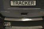 Накладка на бампер с загибом для Chevrolet Tracker 2013-