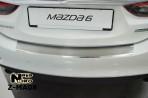 Накладка на бампер с загибом для Mazda 6 Sedan 2013-
