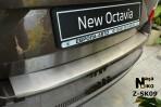 Nataniko Накладка на бампер с загибом для Skoda Octavia A7 2013-
