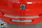 Накладка на бампер с загибом для Volkswagen Polo Hatchback 2009-