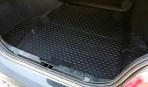 Коврик в багажник автомобиля BMW 5 (E60) Sedan 2003-2010 полиуретановый черный