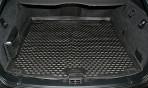 Коврик в багажник автомобиля BMW 5 (E61) Touring 2003-2010 полиуретановый черный