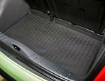 Коврик в багажник автомобиля Citroen C3 2002-2010 полиуретановый черный