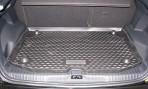 Коврик в багажник автомобиля Citroen C3 Picasso 2009- полиуретановый черный