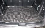 Коврик в багажник автомобиля KIA Mohave 2009- (5 мест) полиуретановый черный