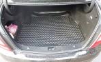 Коврик в багажник автомобиля Mercedes-Benz C-Class (W204) 2007- полиуретановый черный