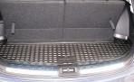 Коврик в багажник автомобиля Nissan Qashqai+2 2008- (короткий) полиуретановый черный