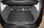 Коврик в багажник автомобиля Renault Scenic 2009- полиуретановый черный