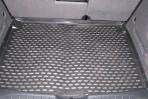 Коврик в багажник автомобиля Seat Altea 2004-2009 полиуретановый черный