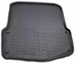 Коврик в багажник автомобиля Skoda Octavia A5 Combi 2004-2013 полиуретановый черный