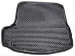 Коврик в багажник автомобиля Skoda Octavia A5 2004-2013 полиуретановый черный