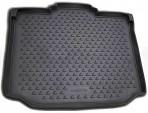 Коврик в багажник автомобиля Skoda Roomster 2006- полиуретановый черный