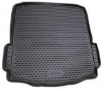 Коврик в багажник автомобиля Skoda SuperB liftback 2008- полиуретановый черный