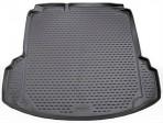 Коврик в багажник автомобиля Volkswagen Jetta 2011- (Trendline, Highline) полиуретановый черный