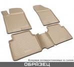 Novline Коврики в салон для Audi A6 (C6) 2005-2011 бежевые