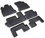 Коврики в салон для Citroen Grand C4 Picasso 2007- (6 шт.) черные