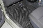 Коврики в салон для Renault Logan MCV 2008-2013 (7 мест) черные
