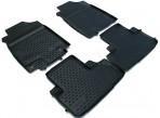 Коврики в салон для Honda CR-V 2013- (с сабвуфером) черные