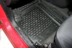 Коврики в салон для Hyundai i10 2007- черные