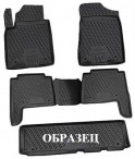 Коврики в салон для Lexus LX 570 2012- (7 мест) черные