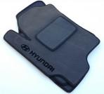Коврики в салон текстильные для Hyundai Elantra XD серые ML
