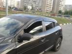 Дефлекторы окон для Renault Megane III 2009- (5 дверей)