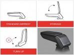 Подлокотник для Шевроле Авео (Т300) 2012- Армстер Стандарт
