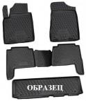 Коврики в салон для Opel Zafira 2012- (7 мест) черные