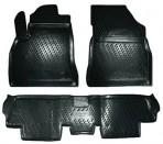 Коврики в салон для Peugeot 3008 2010- (цельный 2-й ряд) черные