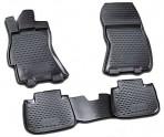 Коврики в салон для Subaru Legacy 2010- черные