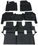 Коврики в салон для Toyota Land Cruiser 200 2012- черные