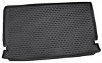 Коврик в багажник автомобиля Chery CrossEastar (B14) 2006- (2 шт.) полиуретановый черный
