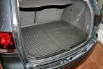 Коврик в багажник автомобиля Volkswagen Touareg 2010- (2-х зон. климат-контроль) полиуретановый черный