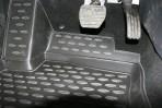 3D коврики в салон для Renault Fluence 2010- черные