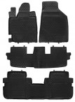 Коврики в салон для Toyota Highlander II 2010- черные