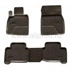 Полиуретановые коврики в салон Toyota Land Cruiser 200 (5 мест) 2007- (Soft)
