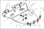 Защита двигателя для Chery CrossEastar (B14) 2006-