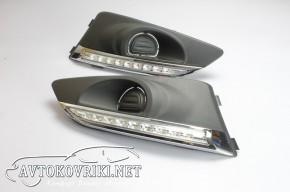 Штатные дневные ходовые огни LED-DRL для Chevrolet Aveo 2012-