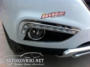 Штатные дневные ходовые огни LED-DRL для Hyundai IX-35 2010- V2