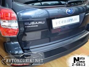 Nataniko Накладка на бампер с загибом для Subaru Forester 4 2013