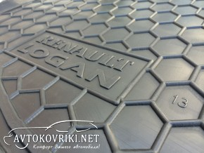 Avto-Gumm Коврик в багажник для Renault Logan Sedan 2013- полиур