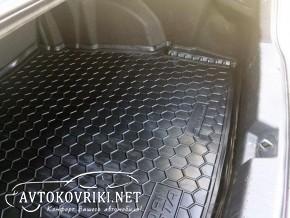 Резиновый Коврик в багажник Хюндай Соната (YF) Hyundai Sonata (Y