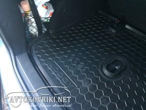 Коврик в багажник Рено Лоджи 2013- полиуретановый Автогум